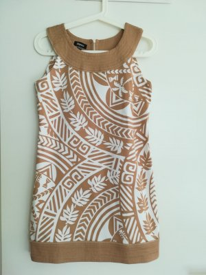 Blanco Mini Dress white-sand brown cotton