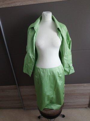 Airfield Pantalone da abito antracite-verde chiaro