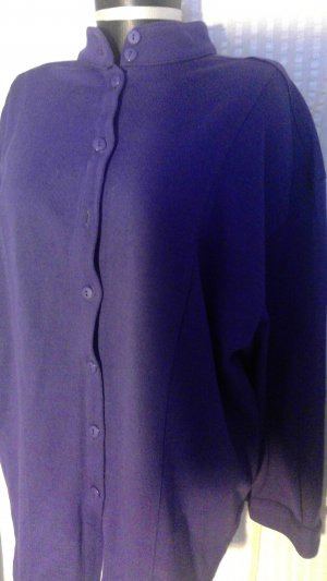 Peter Hahn Pull oversize violet-lilas laine vierge