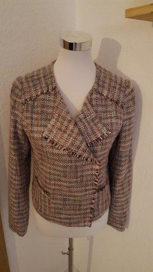Promod Tweed blazer neonrood-room Gemengd weefsel