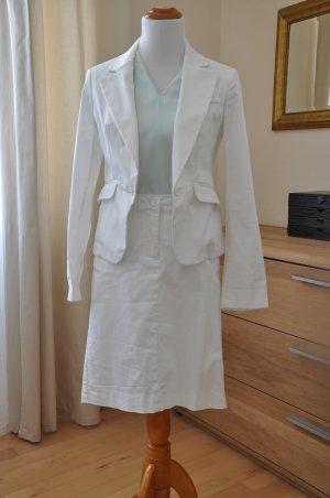 Blaser weiß Sommer Anzug Standesamt, Gr 38
