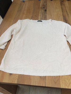 Blass rosa-farbender Woll-/Häckelpullover von Reserved in Gr.L
