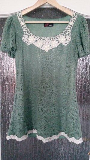 blassgrünes Oberteil Kurzkleid true vintage