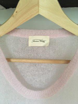 American Vintage Kraagloze sweater lichtroze