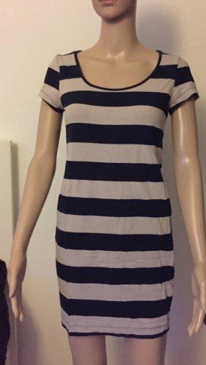 blau-beiges T-Shirt-Kleid