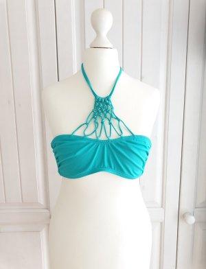 blau Bikini Oberteil Bikinioberteil Grün H&M 36 Badeanzug Badesachen Schwimmsachen top schwimmen