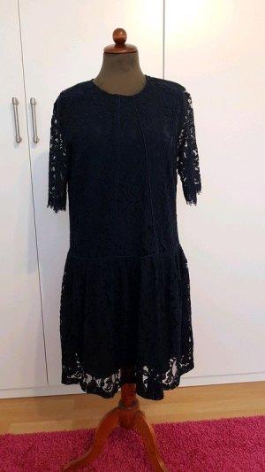 Blau  dunkelblaue  Spitze  Kleid Y.A.S 38
