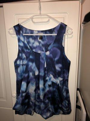 Blau gemusterte Bluse von h&m