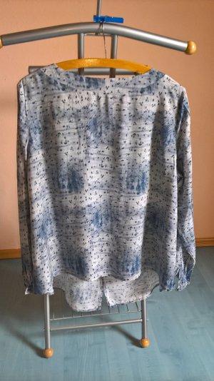 Blau gemusterte Bluse von S.Oliver