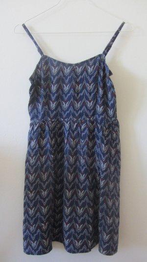 blau gemustertes Kleid von H&M, 36