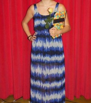 Blau gemustertes Maxi-Kleid von Pepe Jeans