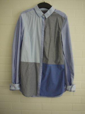 Blau gemustertes Tommy Hilfiger Hemd, Größe 34