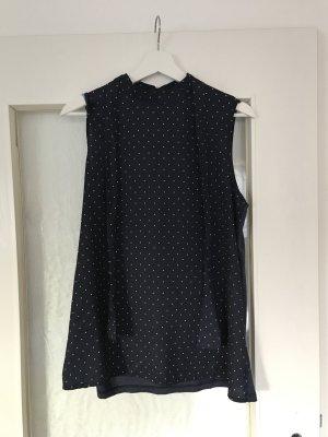 Blau gepunktete Bluse / T-Shirt von Esprit in Größe L