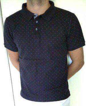 T-shirt blanc-bleu foncé