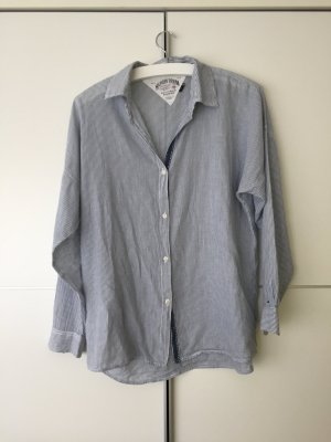 Blau-gestreife Oversized-Bluse von Hilfiger Denim