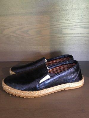 Blau glitzernde Slippers