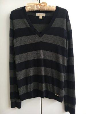 Blau/grau gestreifter Sweater von MICHAEL KORS