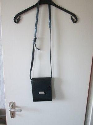 blau-graue Handtasche