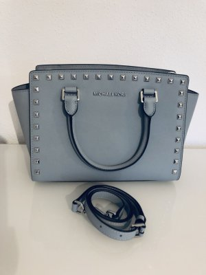 Blau-graue Selma Studded Michael Kors Tasche in Top-Zustand