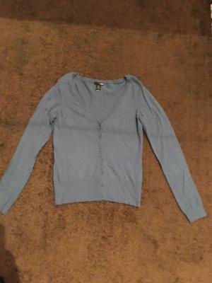Blau/Grauer Cardigan für Damen