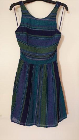 Blau/grünes rückenfreies Kleid von Roxy