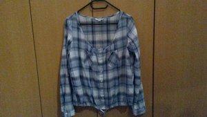 Blau karrierte Bluse