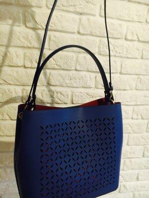 Blau Leder Schulter Tasche Handtasche Umhängetasche echt Ledertasche
