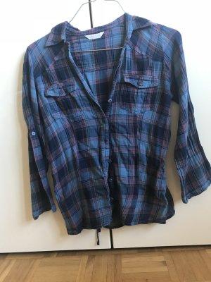 Promod Lumberjack Shirt blue violet-steel blue