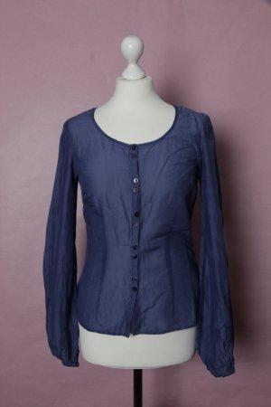 Blau-lilane Bluse NEU mit Seidenanteil von H&M #H&M