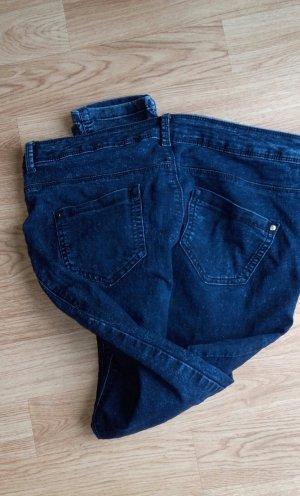 blau melierte stretch Jeans