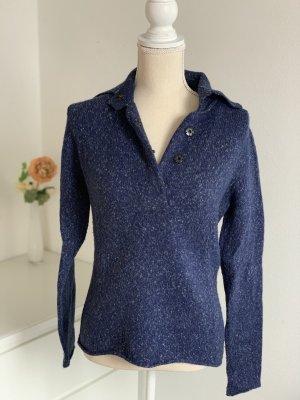 Blau melierter Pullover von Turnover