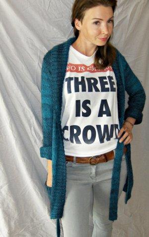 blau melierter, sehr schöner Tom Tailer Wollmantel