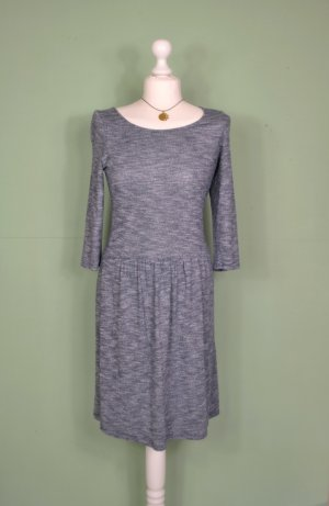 Blau Meliertes Kleid mit Raffung von Esprit