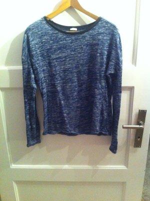 Blau meliertes Sweatshirt