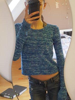 Blau mellierter Hollister Pullover