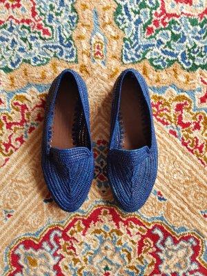 Blau Raffia Schuhe Gr.39