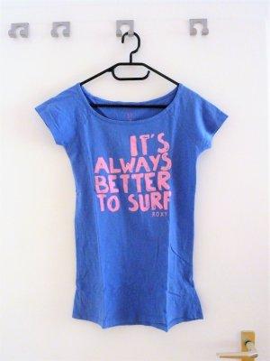Blau rosa Roxy T-Shirt
