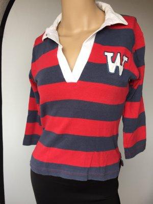 Blau Rot gestreiftes Polo Shirt