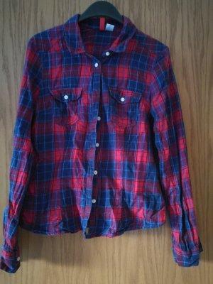 Blau-Rot kariertes Hemd von H&M