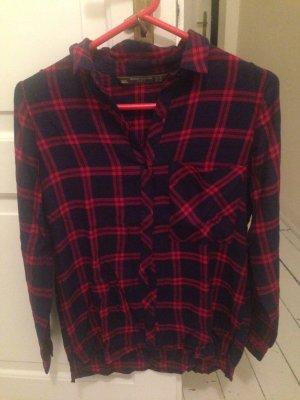 Zara Chemise de bûcheron bleu-rouge