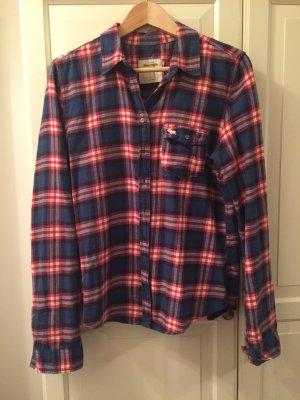 Blau rote Abercrombie Bluse (Hemd)