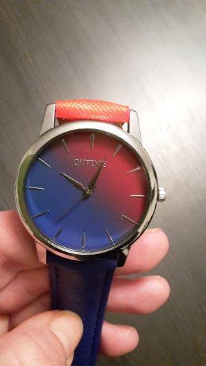 Blau rote Armbanduhr