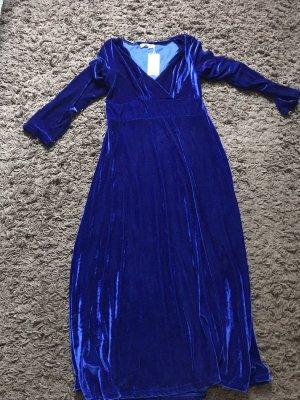 Blau Satin-kleid