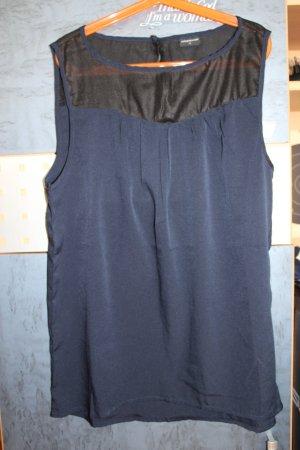 blau-schwarz durchsichtiges Top