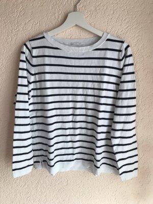 Vila Gestreept shirt wit-zwart
