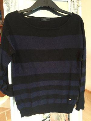 Blau-schwarz gestreifter Pullover von Guess