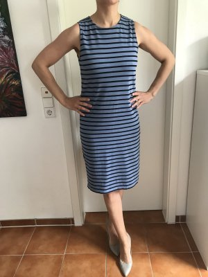 Blau/schwarz gestreiftes Kleid