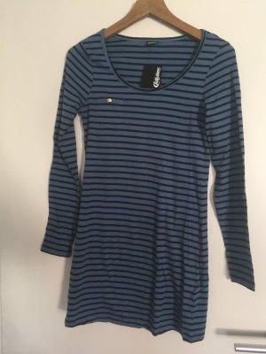 Blau-schwarz gestreiftes Longshirt (Neu) und