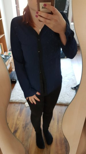 Blau/Schwarze Bluse