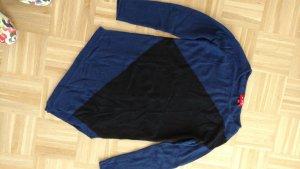 Blau schwarzer asymmetrischer Pullover von Derhy, Gr M
